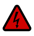 high voltage sign danger symbol black arrow vector image vector image