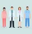 hospital staff concept group of man and woman vector image vector image