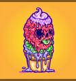 ice cream melt vector image