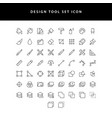 icons set graphic designer items and tools vector image