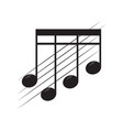 isolated sixteenth note on a pentagram vector image vector image