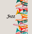 jazz festival trumpet instrument doodle poster vector image