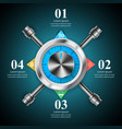 key lock safe icon business infographic vector image vector image