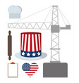 labor day icons vector image