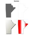 Manitoba blank outline map set vector image vector image