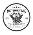 motorcycle premium repair services round logo with vector image