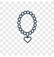 necklace concept linear icon isolated on vector image