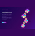 online education or training isometric concept vector image vector image