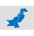 pakistan map - high detailed blue map with vector image vector image