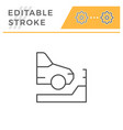parking editable stroke line icon vector image vector image