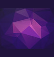purple mosaic triangle background vector image vector image