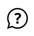 question mark faq bubble button icon vector image vector image