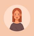 redhead girl head avatar beautiful woman face
