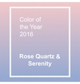 Rose Quartz and Serenity - trendy fashion color of vector image