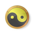 sacred geometry yin yang symbol in golden silver vector image vector image
