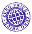 scratched textured zero price stamp seal vector image vector image