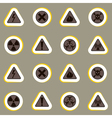 seamless geometrical background with warning signs vector image vector image