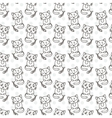 Seamless pattern of cute cat characters Fishbone vector image vector image