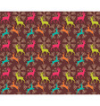 Seamless pattern with reindeers