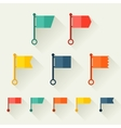 set flags for design in flat style vector image