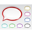 set multicolored glossy speech bubbles vector image