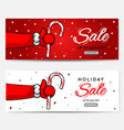 set of christmas sale backgrounds header vector image vector image