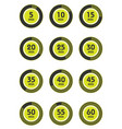 set of timers sign icon full rotation arrow timer