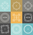 Set trendy logo design elements