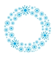 Snowflake wreath isolated vector image vector image