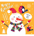 Snowmen christmas design vector image