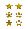 star icons set gold colored icons vector image vector image