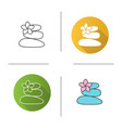 stones for massage icon vector image vector image