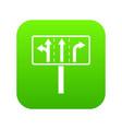 traffic lanes at crossroads junction icon digital vector image vector image