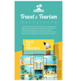 travel and tourism tropical sea postcards vector image