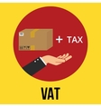 vat value added tax goods plus and vector image