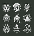 vintage barber logo retro style haircutter vector image vector image