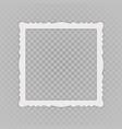 vintage blank photo frame vector image vector image