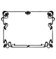 vintage engraving style floral frame vector image vector image