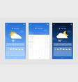 weather forecast widget vector image vector image
