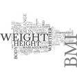 what is bmi how is bmi calculated text word cloud vector image vector image