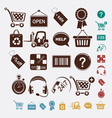 shopping set of icons vector image