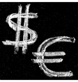 Hand-drawn money signs vector image