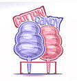 logo for cotton candy vector image