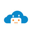 modern robotic cloud technology logo graphic vector image