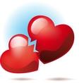 Two broken hearts vector image