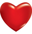 3d red heart vector image