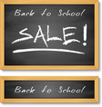 Back to School Wooden Black Chalkboard vector image