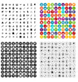 100 exhibition icons set variant vector image
