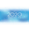 2020 new years card background with snowflakes vector image vector image