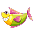 A smiling colorful aquatic fish vector image vector image